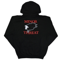 MINOR THREAT Black Sheep ZIP フード パーカー