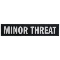 MINOR THREAT Text Logo ワッペン