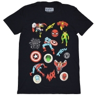 MARVEL COMICS Randam Badges Tシャツ