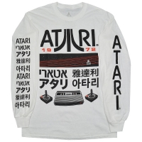 ATARI Logo And Icon ロングスリーブ Tシャツ