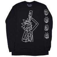 RICK AND MORTY Rick Drinking And Burping ロングスリーブ Tシャツ