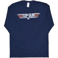 TOP GUN Logo ロングスリーブ Tシャツ