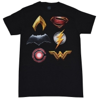 JUSTICE LEAGUE Movie Logos Tシャツ