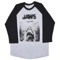 JAWS Poster ラグラン ロングスリーブ Tシャツ