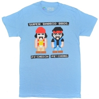 CHEECH&CHONG 8Bit Barrio Bros Tシャツ