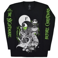 THE NIGHTMARE BEFORE CHRISTMAS Characters Green Glow ロングスリーブ Tシャツ