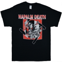 NAPALM DEATH Nazi Punks Fuck Off Tシャツ