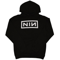 NINE INCH NAILS Classic White Logo プルオーバー パーカー