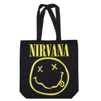NIRVANA Smiley & Logo トートバッグ