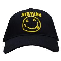 NIRVANA Logo & Smiley スナップバックキャップ