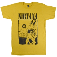 NIRVANA Cartoon Sitting Photo Tシャツ