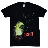 NIRVANA Black Neon Seahorse Tシャツ