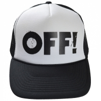 OFF! Logo メッシュキャップ WHITE×BLACK
