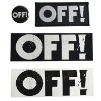 OFF! Logo ステッカー×ワッペン×バッジ セット