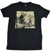 PIXIES Glitch vintage black Tシャツ