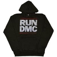 RUN DMC Distressed Logo プルオーバー パーカー