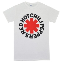 RED HOT CHILI PEPPERS Asterisk Logo Tシャツ WHITE