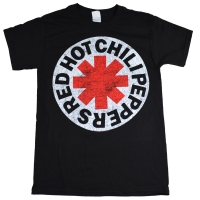 RED HOT CHILI PEPPERS White Circle Asterisk Tシャツ