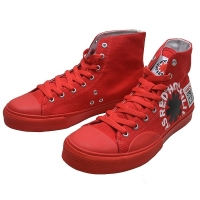 RED HOT CHILI PEPPERS × VISION STREET WEAR Canvas Hi RHCP スニーカー RED