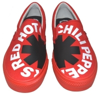 RED HOT CHILI PEPPERS × VISION STREET WEAR Canvas Slip-On RHCP スリップオン RED