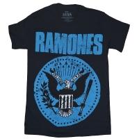 RAMONES Distressed Blue Seal Tシャツ