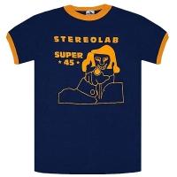 STEREOLAB Super 45 Ringer トリム Tシャツ