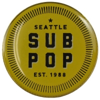 SUB POP RECORDS Hangtag Round Est 1988 ピンバッジ