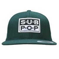 SUB POP RECORDS Logo スナップバックキャップ GREEN