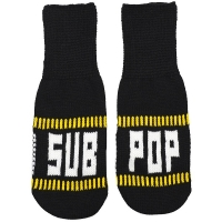 SUB POP RECORDS Black Knit ミトン手袋