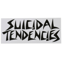 SUICIDAL TENDENCIES Logo ステッカー WHITE