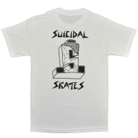 SUICIDAL TENDENCIES × DOGTOWN Block Logo Tシャツ WHITE