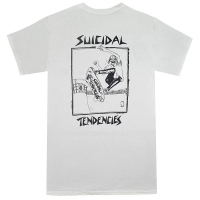 SUICIDAL TENDENCIES Pool Skater Tシャツ WHITE