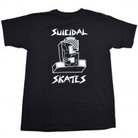 SUICIDAL TENDENCIES × DOGTOWN Block Logo Tシャツ BLACK