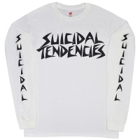 SUICIDAL TENDENCIES Logo ロングスリーブ Tシャツ WHITE