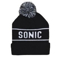 SONIC YOUTH Logo Black ボンボン ニット帽