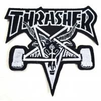 THRASHER Skategoat 刺繍 ワッペン BLACK USA企画