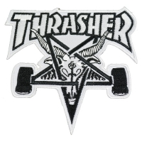 THRASHER Skategoat 刺繍 ワッペン WHITE USA企画