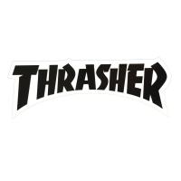 THRASHER Die Cut Logo ステッカー BLACK USA企画