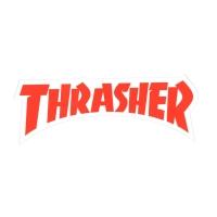 THRASHER Die Cut Logo ステッカー RED USA企画