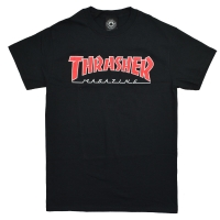 THRASHER Outlined Mag Logo Tシャツ BLACK USA企画