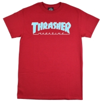 THRASHER Outlined Mag Logo Tシャツ CARDINAL USA企画