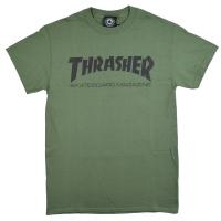 THRASHER Skate Mag Logo Tシャツ OLIVE USA企画