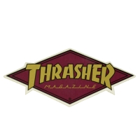 THRASHER Diamond Logo ステッカー GOLD USA企画