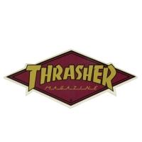 THRASHER Diamond Logo ステッカー GOLD USA企画