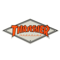 THRASHER Diamond Logo ステッカー ORANGE USA企画