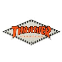 THRASHER Diamond Logo ステッカー ORANGE USA企画