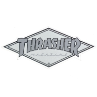 THRASHER Diamond Logo ステッカー SILVER USA企画