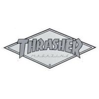 THRASHER Diamond Logo ステッカー SILVER USA企画