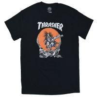 THRASHER SK8 Outlow Pushead Tシャツ BLACK USA企画