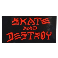 THRASHER Skate And Destroy ステッカー BLACK USA企画